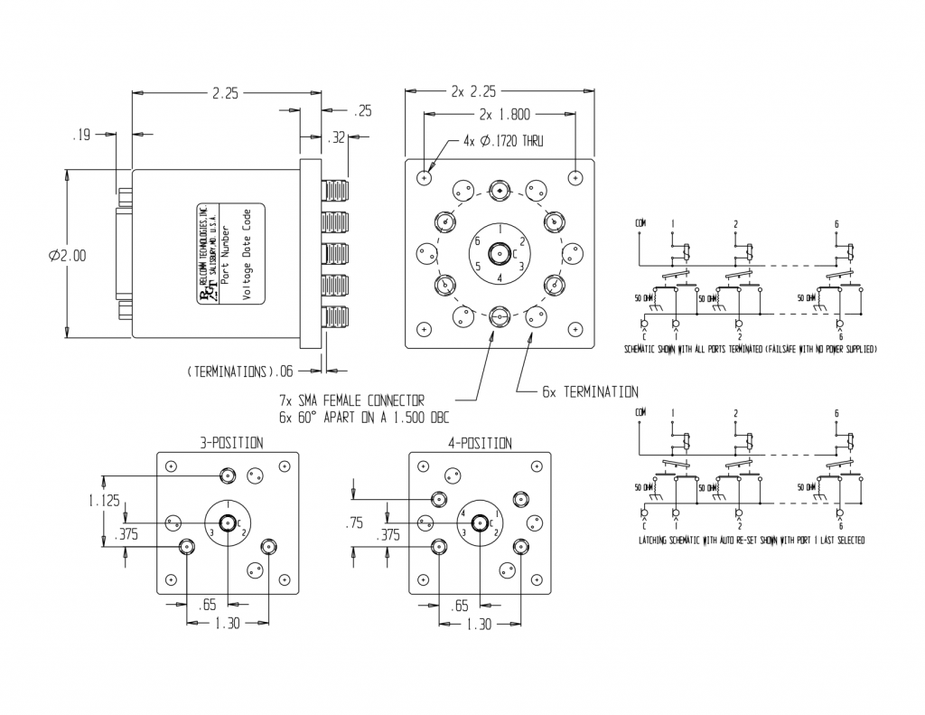 RMS SP(3-6)T TERMINATED MECHANICAL DRAWING